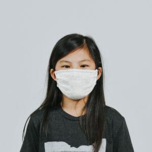 Youth Ash Cloth Mask [tag]
