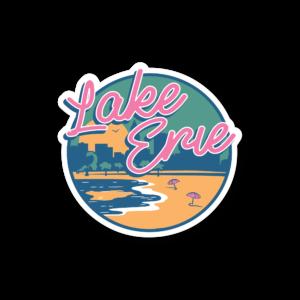Lake Erie Sticker - Where I'm Apparel